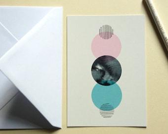 Carte postale Éclipse ou Oiseaux