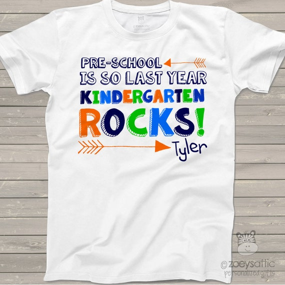 Back to school shirt preschool is so last year by zoeysattic for Custom school t shirts