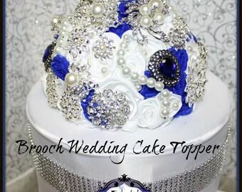 Crystal Rhinestone Brooch Wedding Cake Topper