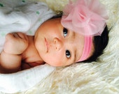 Pink Baby Flower Headband - Newborn - Infant - Toddler - Baby Girl - Flower Girl