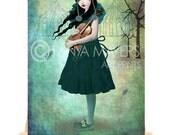Circus Song - Aceo Card - ATC - Clown Art