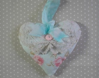 Pink Rose Lacey Heart Lavender Sachet