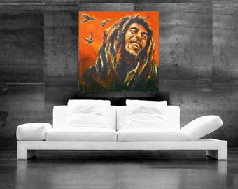 Bob Marley Painting Pop Art Canvas Print