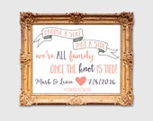 Custom Printable Wedding Seating Choose A Seat Sign -- Digital File Only