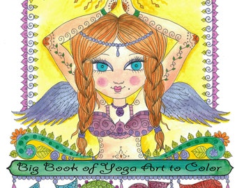 The BIG YOGA Coloring book you be the Artist Color Zen OM Adult Coloring Book