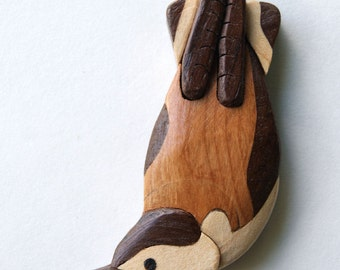 Nuthatch Songbird Magnet Intarsia Wood Carving Wooden Bird Spring Decoration Home Decor Ornament