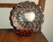 Vegetable Serving Bowl ~ Reed & Barton Large Bowl Tray ~ Pattern 109 Holiday ~ number 175 ~ Vintage 1980's