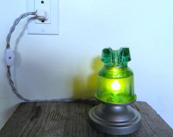 Handmade Custom Antique Insulator Night Light