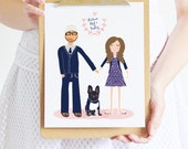 Custom Portraits for your wedding, family or anniversary gift by Yellow Heart Art