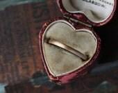 Yellow Gold Ring, Thin Ring, 2mm Gold Band, Brushed Satin Ring, Handmade Custom Wedding Band, Stacking Ring, The North Way Studio.