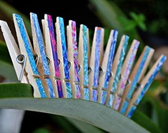 Lilly Pulitzer Clothes Pins, Set of 8 Custom Design Your Choice Decorative Clothespins Gift Tag Clip Paper Photo Organizer Dorm - TheSandbar