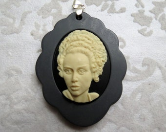 Bride of Frankenstein Cameo Pendant
