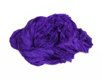 violet silk scarf -  Midnight Glow -  purple, violet silk scarf.