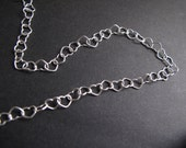 Heart Chain Necklace, Sterling Silver (16, 18, 20 inches)