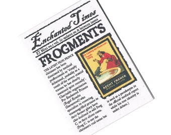 Frog Prince Fairytale Newspaper - Frogments, Enchanted Times Mini Zine - Fractured Fairy Tale Fiction, Humour, Cinderella, Brothers Grimm