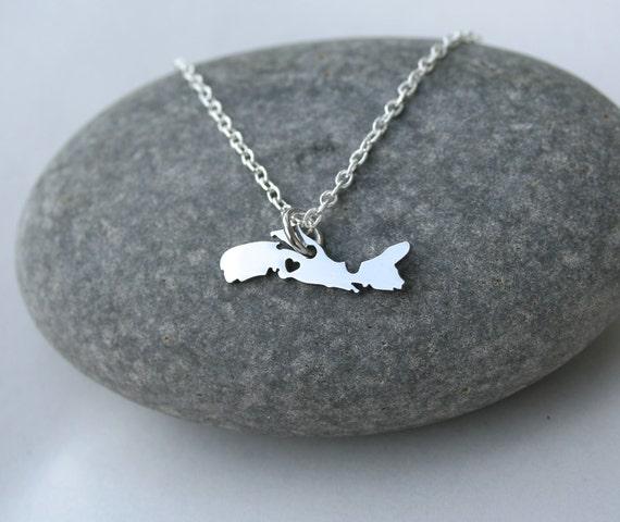 sale nova scotia stainless steel necklace province jewelry