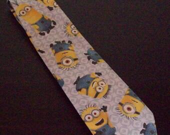 minion tie/ funny tie/ cartoon character tie/ minion necktie/ funny necktie/ mens tie/ mens necktie/ cartoon necktie