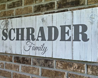 Personalized Last Name Wood Signs | Decorative Family Name Signs | Last Name Sign for Home | Wooden Name Sign | Unique Anniversary Gift