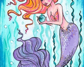 Glass Float Mermaid Print