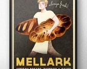 "Hunger Games Inspired - Peeta Mellark Bakery Vintage Poster (""Grand Reopening"")"