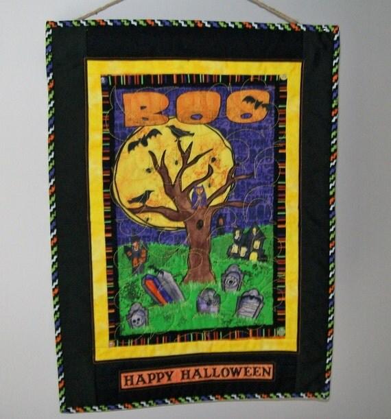 Halloween door hanging owl in tree full by ExpressionQuilts ~ 102409_Halloween Owl Door Hanger