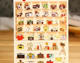 Vintage camera sticker Cam polaroid Retro Camera vintage label Photographer planner sticker photography logo icon label camera clipart