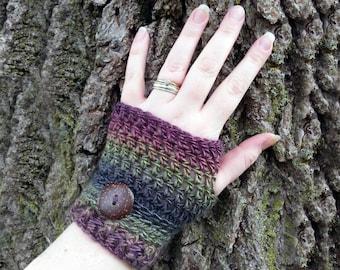 Crochet Fingerless Gloves - Fingerless Mittens - Knit Fingerless Gloves - Womens Wrist Warmers - Boho Accessories - Steampunk Gloves