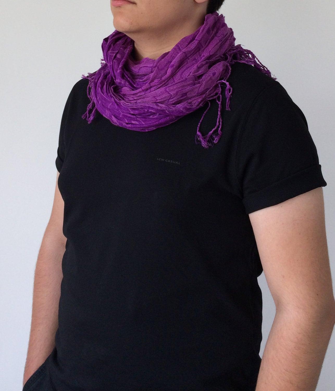 pashmina scarf boho purple scarf s scarf wrinkled