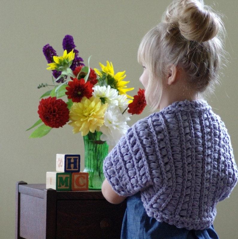 Crochet Pattern Shrug Pattern Girls Bolero by ...