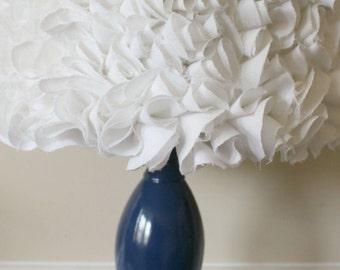 White Ruffled Lamp Shade Lampshade Very beautiful! Ruffles! Rose petals!