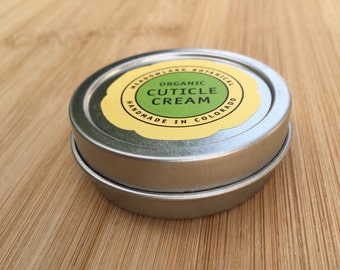 Organic Cuticle Cream | Stocking Stuffer | Orange Cuticle Balm for Nails | Vegan Skincare | Mani Pedi Balm | Manicures + Pedicures | 1.5oz
