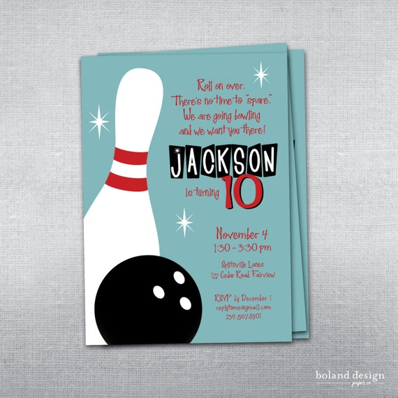 Bowling Themed Invitations for awesome invitations layout