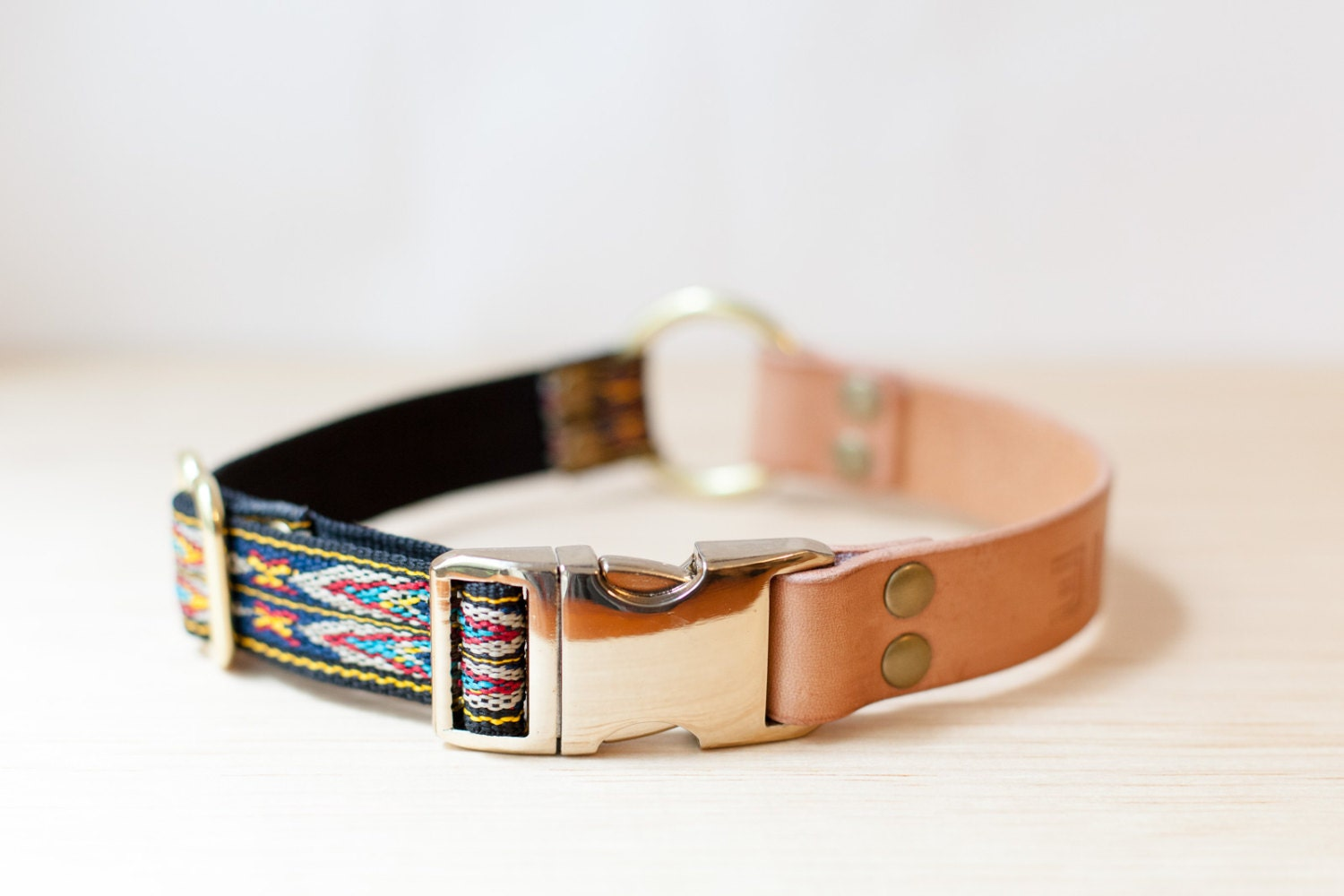 Personalised Leather Dog Collar With Metal Side Release Buckle