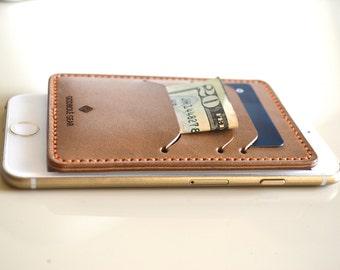 Full Grain Leather Minimalist Card Wallet, Front Pocket Wallet, Slim Card Wallet, Card Sleeve, Groomsmen Gift, Clutch Wallet