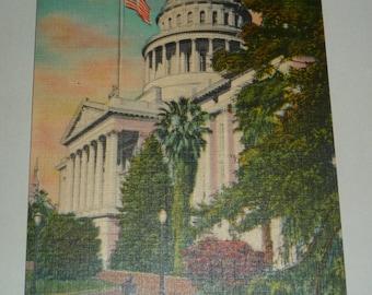 California State Capitol, Sacramento - Unused Vintage Linen Postcard