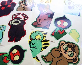 Cryptozoology Vinyl Stickers