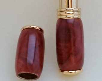 Handcrafted Perfume/ Cologne atomizer, wood,  purse style, Red Mallee Burl, 24k Gold