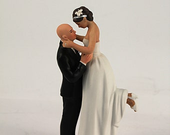 wedding cake toppers bald groom bald groom etsy 26387