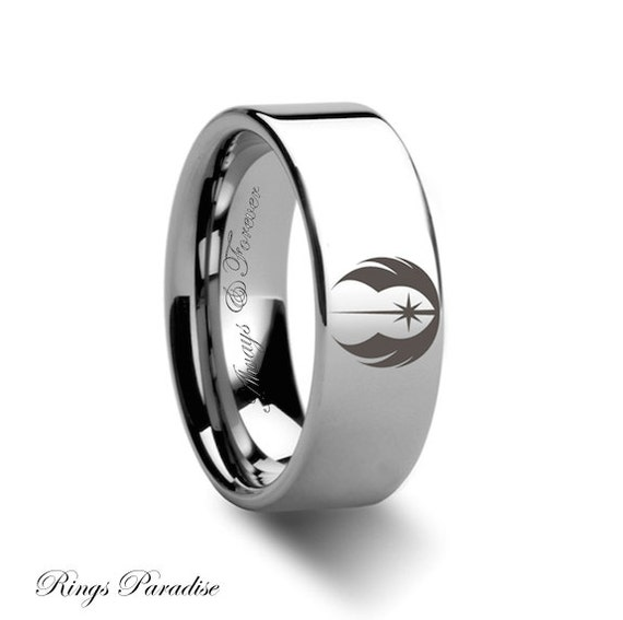 Jedi Symbol Tungsten Wedding Ring