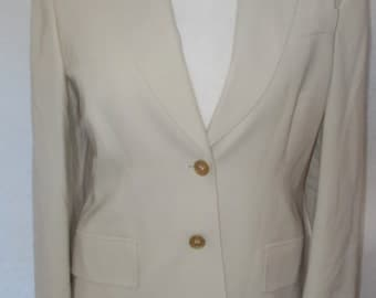 Vintage Jacket Jaeger cream wool blazer jacket size small