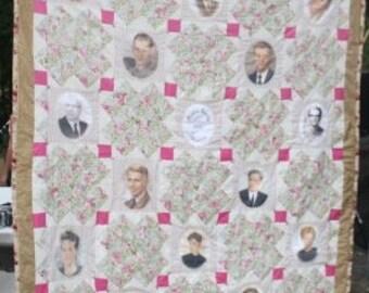 Family Heriloom Photo Quilt