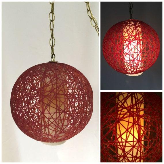 Mid Century Swag Lamp: Vintage Yarn Swag Lamp Mid Century Swag Lamp By TangerineFig