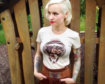 Wild Horses Tshirt size S, M, L,XL,2XL,3XL Heather beige Rockabilly 50s vintage inspired by Mischief Made