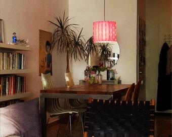Modern lighting - Pendant lighting - Ceiling light - 60's retro lamp - Circles pattern - Cozy pink lamp - Pendant lamp - Ceiling lighting