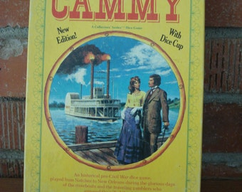 """Vintage Dice Game, """"Cammy"""", 1976, Historical pre-Civil War Dice Game, Complete with Dice, Instructions & Score Pad, Great Family Fun!"""