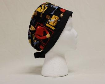 Star Trek Next Generation Picard Crew Surgical Scrub Cap Dentist Chemo Hat