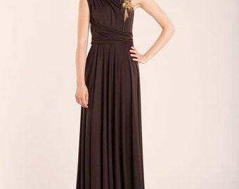 Brown dress, Brown Infinity dress, brown bridesmaid dresses, evening long dress, woman dress, brown long dress, bridesmaid dresses, infinity