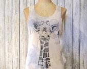 """GIRAFFE Tank Top for Women Organic Workout Tank Top Giraffe Shirt Women's Tank Top Gift for her """"Giraffe"""" by Uni-T"""