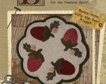 Pattern: Penny Table Mat Thru the Year-June by Buttermilk Basin