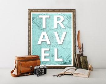 Travel Decor Printable, Travel Poster, Travel Decor, Travel Download Print, Travel Digital Download, Travel Art, Travel Print, Travel 0233